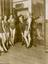"""Film Aspirants for the part of """"Lady Godiva"""". Sinclair Hill is shown here measuring one of the hopeful girls, 15th"""