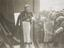Jessie Matthews Christens the new dress material at Selfridges department store, 7th June 1934