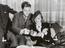Marlene Dietrich and Robert Donat drinking tea, 15th August, 1936