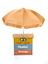 MTN branded umbrella (2013-160) and mobile phone call box (2013-161), used in Cameroon, unknown maker, 2012. MTN is a