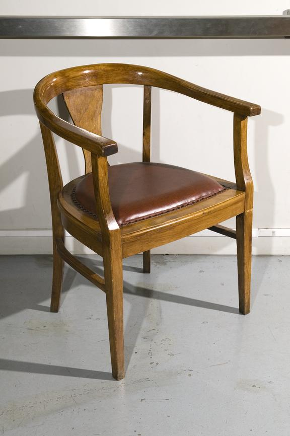Office chair.Photographed on display in the Textiles gallery.