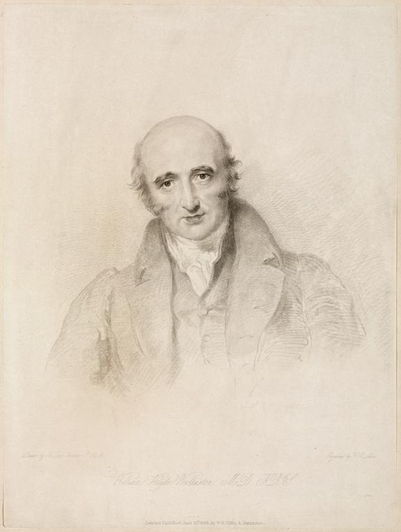 William Hyde Woollaston MD FRS [sic]. print. etching, on laid india. / Drawn by Sir Thos Lawrence PRA; Engraved by F C