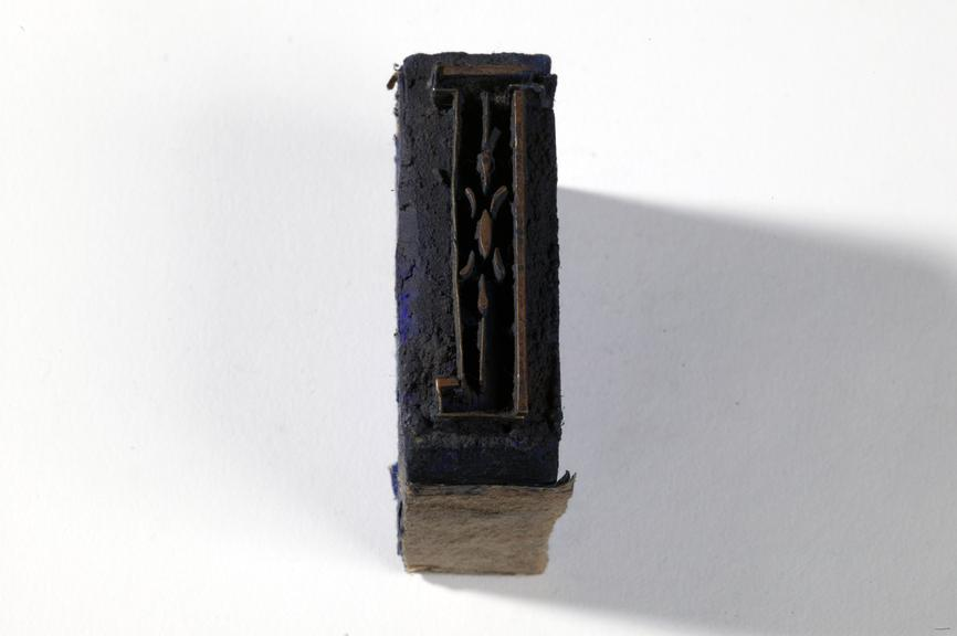 Textile printing block.Photographed on a white background.