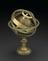 Made in 1542 by Caspar Vopel of Cologne, Germany, this brass armillary sphere encloses an early example of a