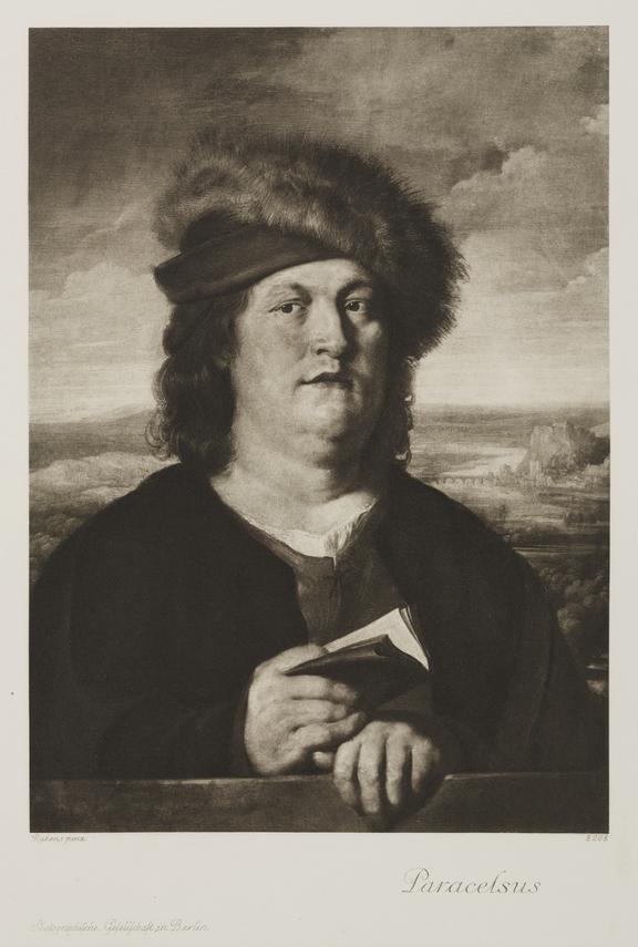 Portrait: photogravure: Theophrastus Paracelsus / Photographische Gesellschaft Berlin