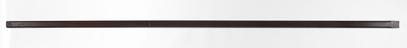 Security struts for Castlereigh Cabinet: left-hand security strut for the 36-drawer wooden cabinet, with drawers