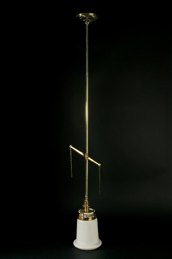 Light fitting by Bray, c. 1930.Photographed on a black background.