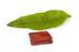 Block of sealing wax used by John Dalton, c.1830, with a laurel leaf.Image simulating colour blindness with
