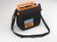 NHS issue portable Defibrillator, in carrying pouch, with NHS logo on front. Part of medical equipment and tools