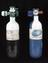 2x Gas canisters, empty, (Oxygen and Nitrous Oxide), part of medical equipment and tools supplied to members of the