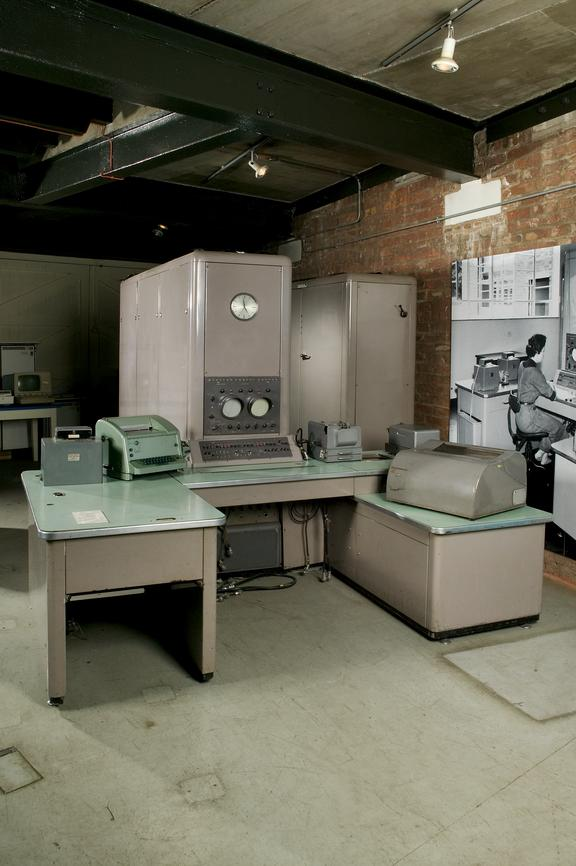 Pegasus Mark I computer, made by Ferranti Ltd, Manchester, and delivered to Vickers Aircraft in 1957.Photographed on