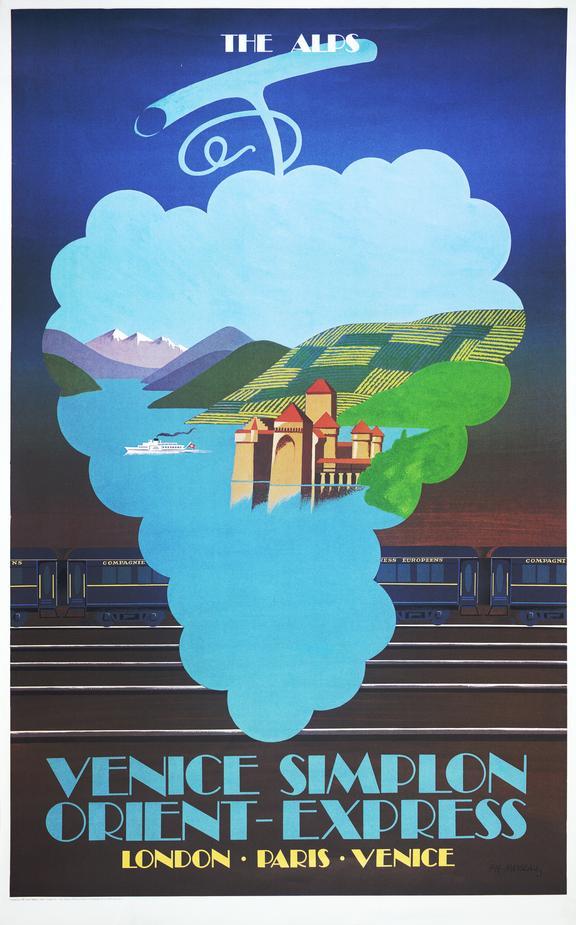 Poster, Venice Simplon   Orient Express, 'Venice Simplon   Orient Express   The Alps', by Fix Masseau, 1981.