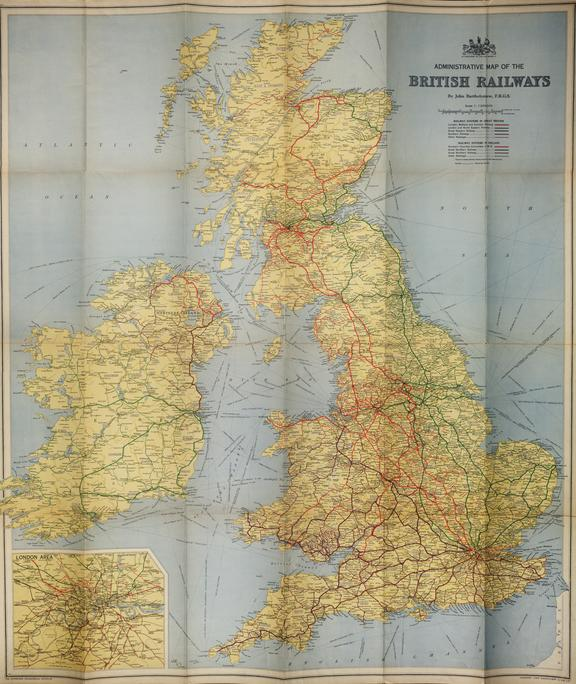 Bartholmews Railway Map of the British Isles 1939