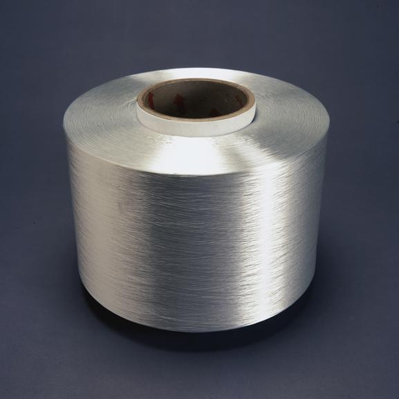 Roll of Tactel (nylon), made by DuPont, 1997. From a colour transparency in the Science Museum Photographic Archive.
