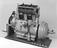 Monochrome photograph from Photo Studio Archive of Dorman 4 cylinder 11.9HP, light motor car engine type 4 K.N.O., also
