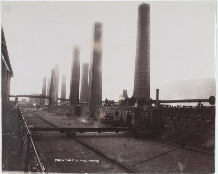 photograph: albumen: [Ebbw Vale Coppee Ovens) South Wales] / [1880-1895] [incl. chimmeys]. One of 22 albumen