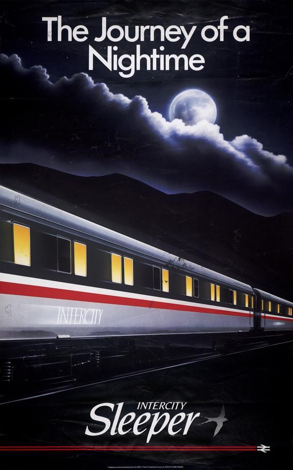 Poster, Intercity Sleeper, Journey of a Nightime
