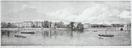 A lithographic sketch of the North Bank of the Thames, from Westminster Bridge to London Bridge showing the proposed