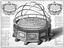 Engraving: Machina Coelestis, or the Great Orrery.. Made by T. Wright. Engraved by G. Vandergucht after C. Lempriere.