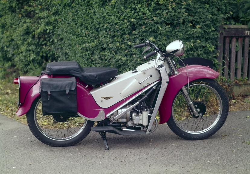 Velocette LE200 motor cycle. The Velocette LE was introduced in 1949 with a 150 cc engine and launched as the