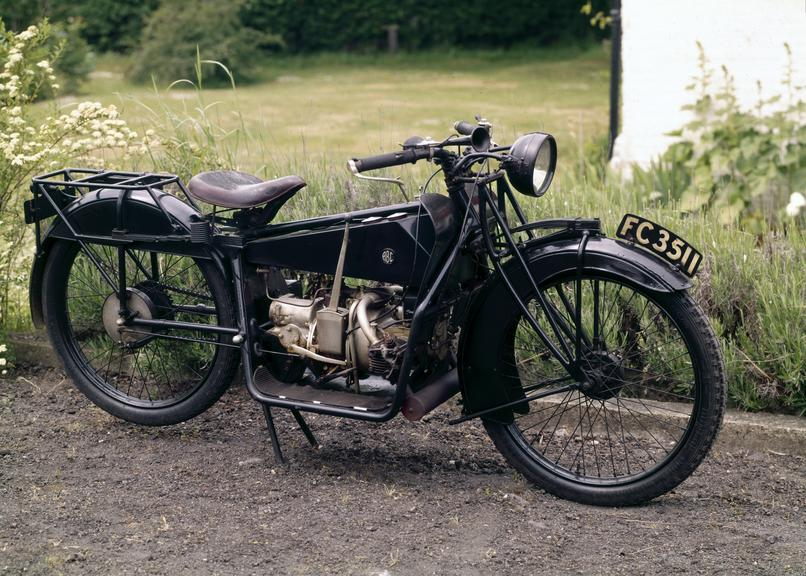 A.B.C. 3 h.p. motor cycle, with one registration book, 1921. From a colour transparency in the Science Museum