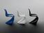Three chairs, part of models of the full-sized Verner Panton chair, originally produced in 1959-60. These miniature
