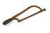 Hand hacksaw, blackwood handle and iron frame.
