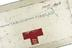 Detail of case for Tabloid first aid kit used by Alcock and Brown, on their first transatlantic non-stop flight, by