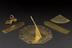 """Group photograph of Portable universal equinoctial sundial, in brass, signed """"A Ryther * Fecit * 1588"""" with inscription"""