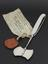 """Hey's skull saw sealed and labelled """"Army Medical Department"""", by Down Bros., London, 1941.  Front 3/4 view of whole"""