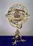 Armillary sphere by Caspar Vopel, 1554. Mounted on a triple clawed foot stand with an inner wooden sphere representing