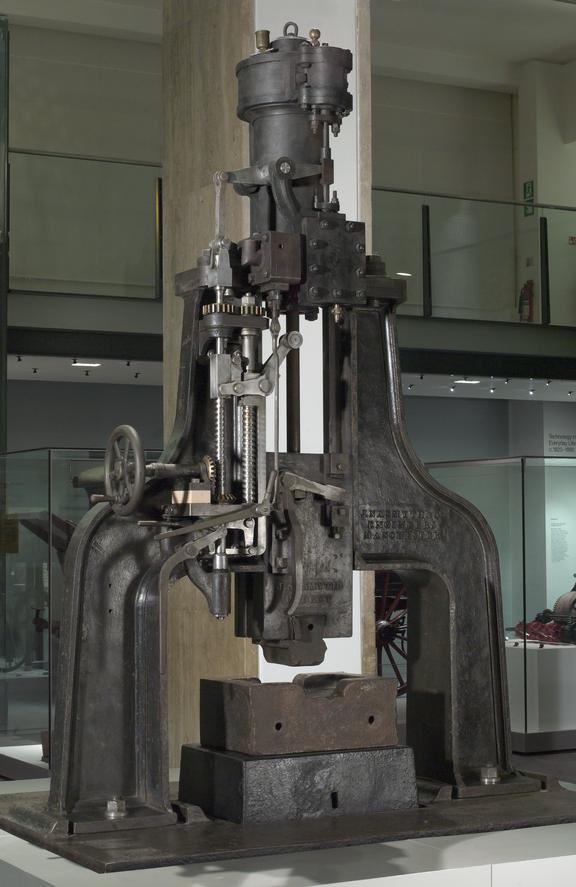 Nasmyth steam hammer, c. 1850 (originally installed at the Royal Mint). General view of steam hammer as installed in
