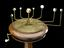 Small orrery on mahogany stand showing 6 planets out to Saturn by B. Martin, London, mid 18th century. Dated to the