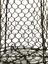Brass cage, with wooden knob and hook. pre 1753.