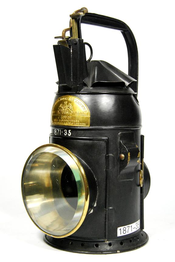 One handed three-colour signal lamp