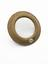 "1 Convexo convex lens 3 3/8"" dia, in circular wood frame 4 7/8"" dia"