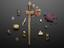 Group of various amulets, used to prevent/cure various diseases & ailments and bring good fortune. In the centre is a