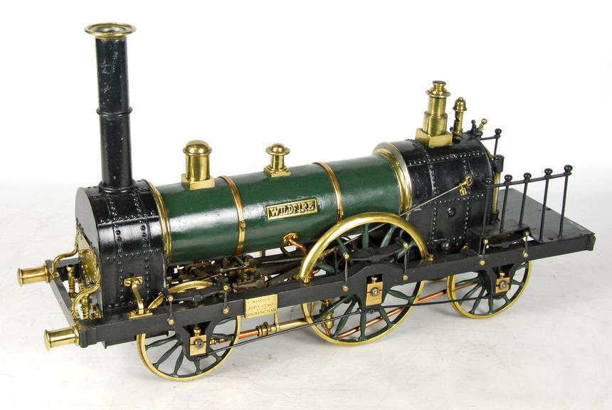 Model of Grand Junction Railway locomotive Wildfire