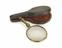 Hand reading lens in leather case, 1631-1670