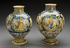 Left hand side - A97373, Syrup jug, Italian from Deruta, late 16th century or early 17th century, polychrome maiolica,