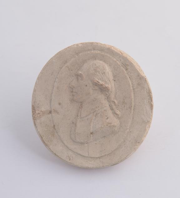 1 Plaster cast, marked on back Scraping Spring 1807' 2' dia Black, Dr. Joseph, head and shoulders facing L.'