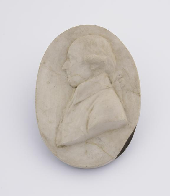 1 Reproduction in alabaster, slate base, marked Feb 20 1810''
