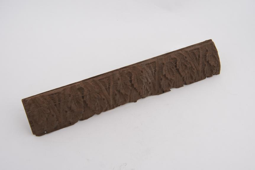 Reproduction in mahogany, of No.383, 9 a 1 5/8''