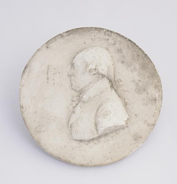 Plaster cast, No. 10 dated Apl.11 1807', 4 1/8' dia'