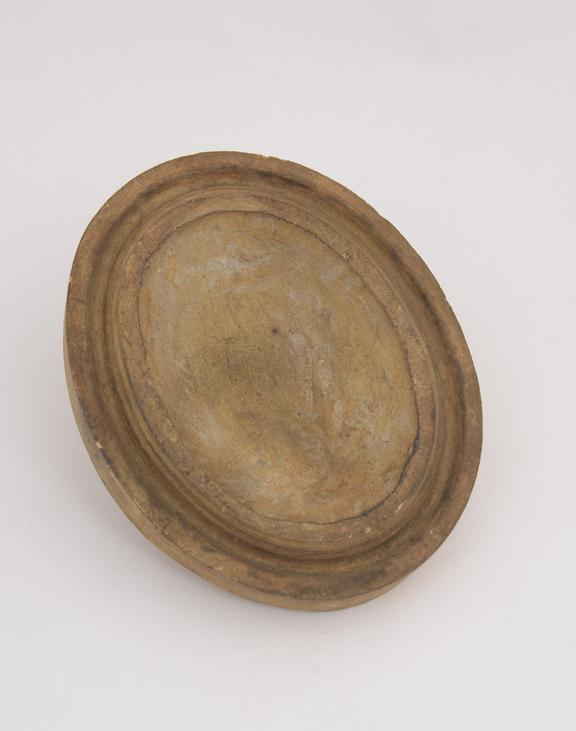 1 Plaster cast, frame, oval 4 3/8 x 3 1/2''