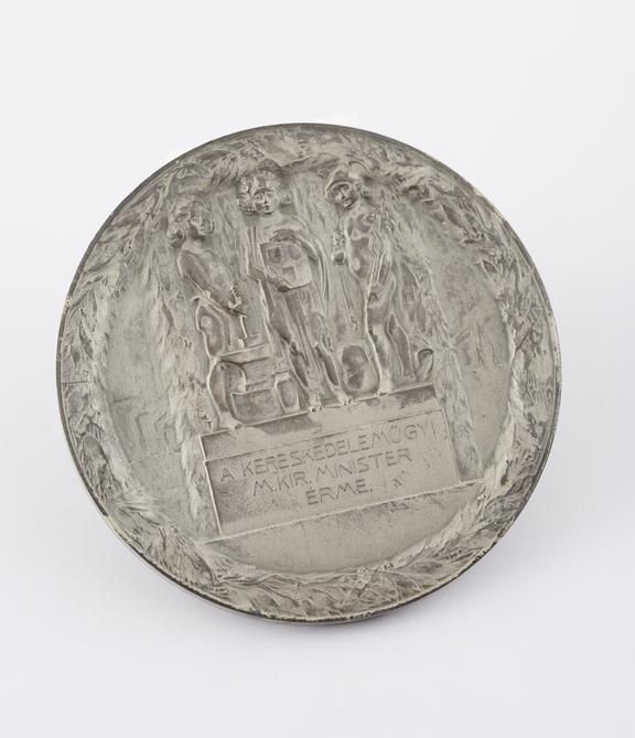 White metal medal inscribed Budapest 1911', Hungarian, 1911'