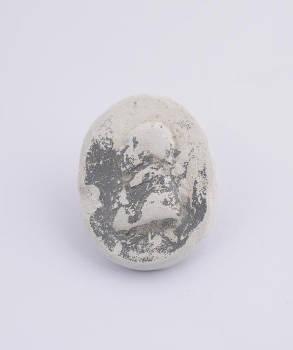 1 Miniature plaster cast of James Watt oval 1 1/8 x 7/8''