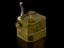 Scarificator, brass, 12-bladed. Part of a cupping set, incomplete, comprises one scarificator, three cupping glasses,