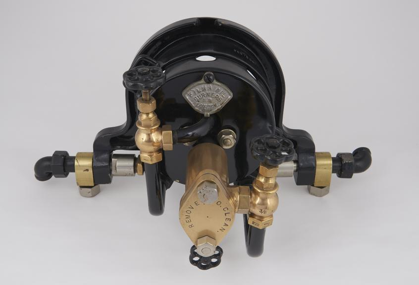 No. 0 (1/2) Filma patent steam atomizing burner, with fittings for boiler front'