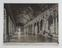 Undated photograph showing the Hall of Mirrors int he Palace of Versailles.
